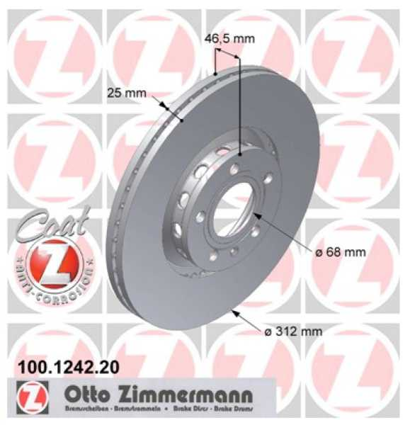 2x Audi A4 1.8 T quattro 2.5 TDI Bremsscheibe Zimmermann 312x25 Seat Skoda Exeo Superb I