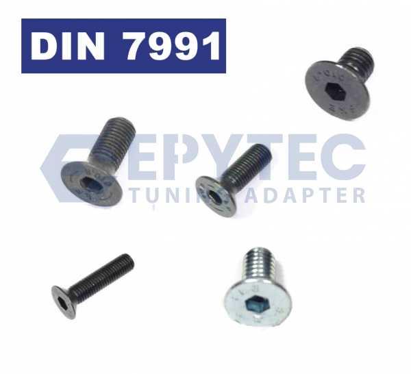 Senkkopfschrauben Normal und Feingewinde Schraube M5-M16 hochfest 10.9 12.9 DIN7991 8.8 Stahl