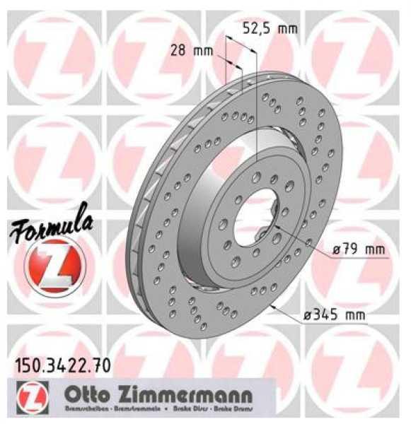 2xBMW 3 Coupe M3 E46 Bremsscheibe Zimmermann Sport 345x28 Z4 Roadster E85 Z4 Coupe E86