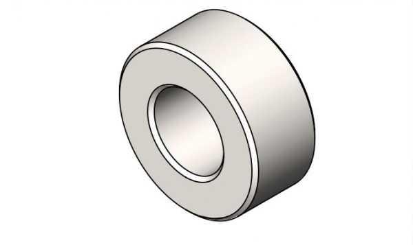 Aluminium-Buchse Ø Außen 21; Ø Innen 10,5; Länge 9,5