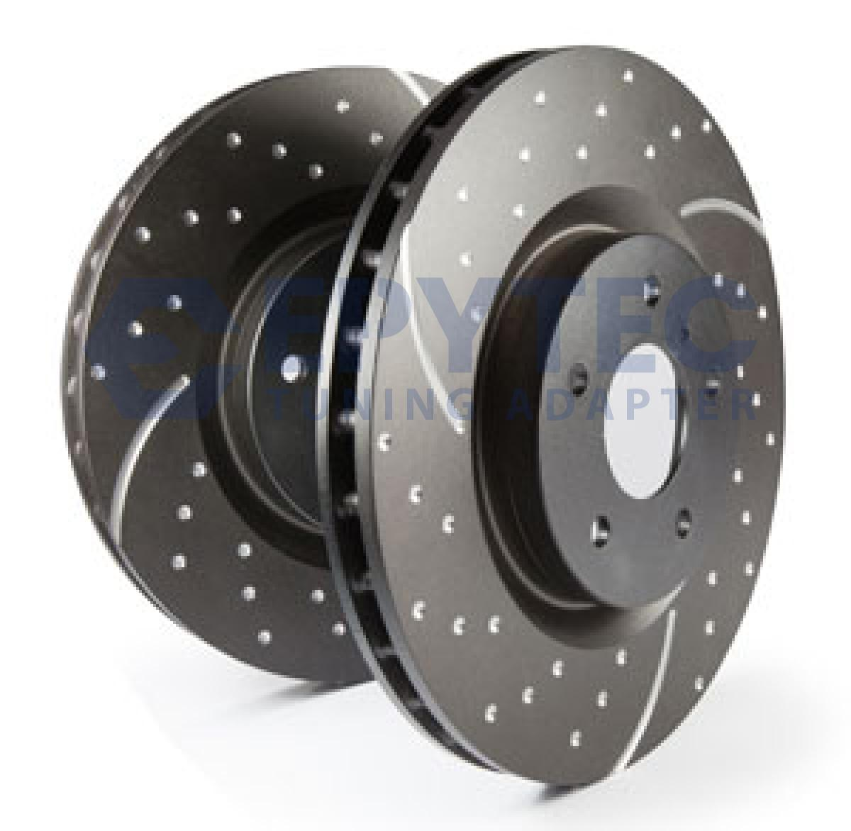 A3 Quattro 1.8 20v Drilled Grooved Brake Discs Rear