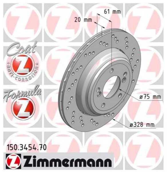 2xBremsscheibe BMW 3 Coupe M3 E46 Zimmermann Sport 328x20 Z4 Roadster E85 Z4 Coupe E86