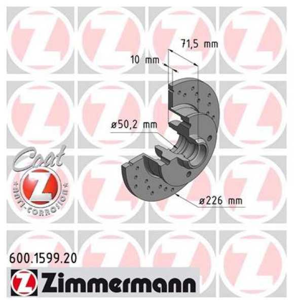 2x VW Golf II III IV 1.8 GTI 1.9 TDI Bremsscheibe Zimmermann Sport 226x10 Corrado Jetta II Passat Seat Ibiza