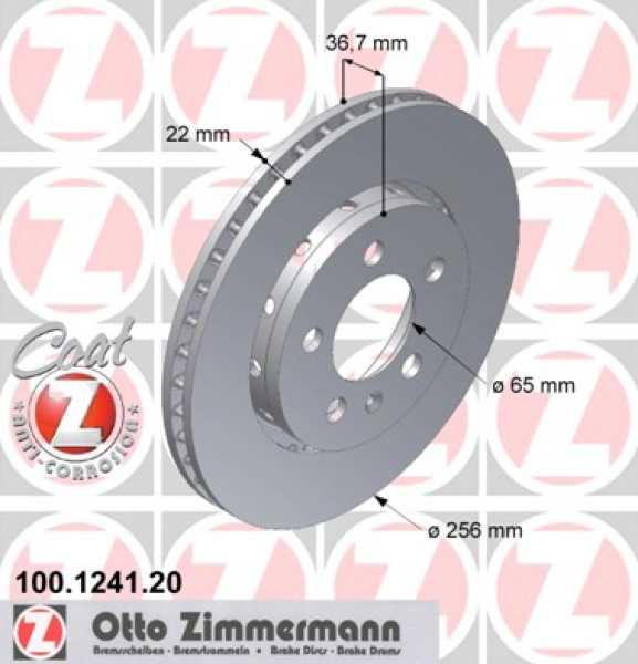 2x VW Golf Audi R32 S3 V5 Bremsscheibe Zimmermann 256x22 Seat Skoda quattro