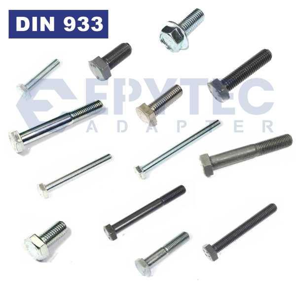 Sechskantschrauben Normal und Feingewinde Schraube M5-M16 hochfest 10.9 12.9 DIN933 8.8 Stahl