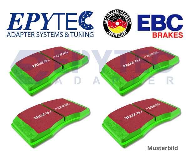 EBC Bremsbeläge Greenstuff ZR17 ZL17 / ZR18 ZL18  vorne Porsche VW Cayenne Touareg 3.0 Diesel 3.2 V6 3 für alle ZR17 ZL17 / ZR18 ZL18 Bremssättel