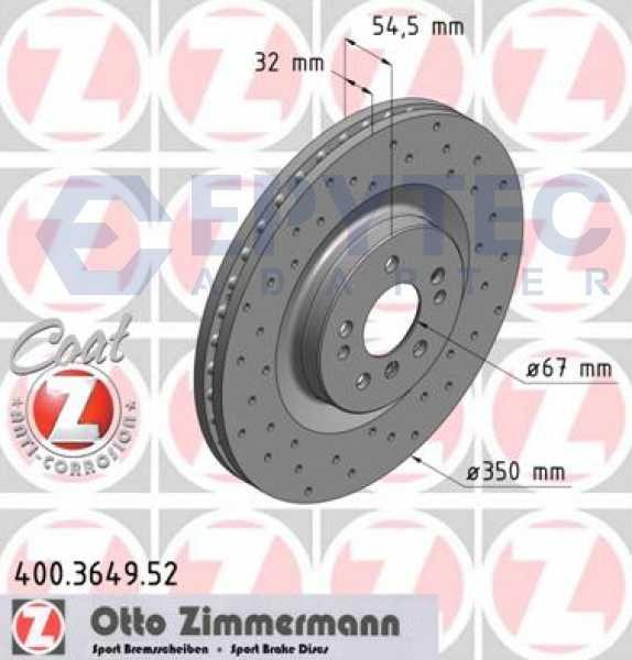 Mercedes M-Klasse R-Klasse GL-Klasse VR6 R32 S3 Bremsscheibe Zimmermann Sport 350x32